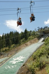 Park City Zipline ride at Utah Olympic Park