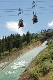 Park City Zipline ride at Utah Olympic Park